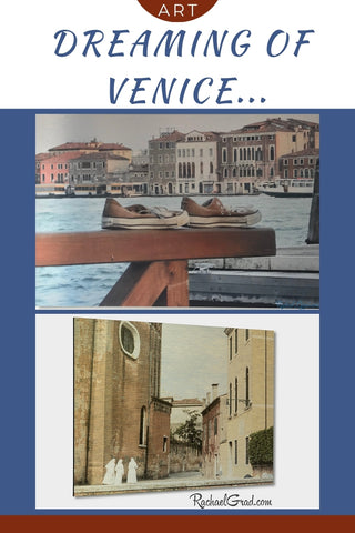 Dreaming of Venice Italy old Shoes and nuns by Canadian Artist Rachael Grad