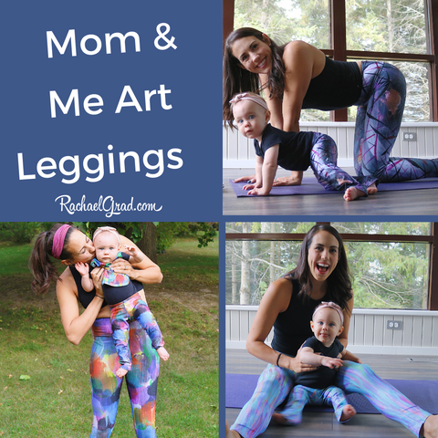 Top Mom and Me Matching Leggings by Toronto Artist Rachael Grad