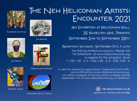Encounter 2021 at the Heliconian Club with art by Rachael Grad