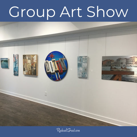 Group Art Show at Leslie Grove Gallery with art by Toronto Artist Rachael Grad