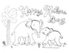 Free Mother's Day Card for Kids to Colour (Download Now) by Artist Rachael Grad