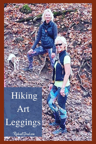 Hiking Art Leggings by Toronto Artist Rachael Grad on Liz and Grad in Collingwood