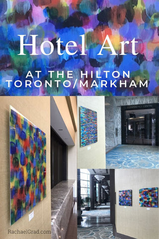 hotel art at the hilton toronto markham suites rachael grad abstract color artwork