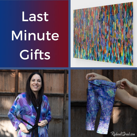 Last Minute Gifts and Art by Artist Rachael Grad available for delivery in Toronto Canada