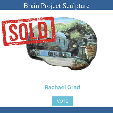 Sold Brain project sculpture 2020 by Toronto Artist Rachael Grad