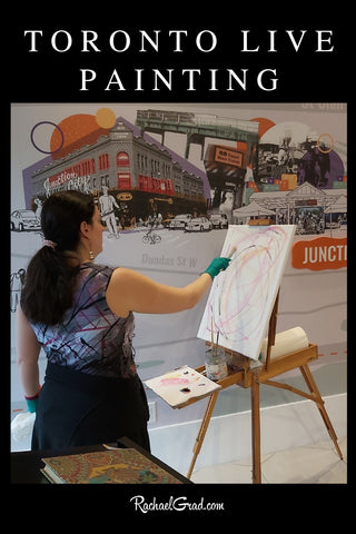 Toronto Live Painting with Canadian Artist Rachael Grad for parties in GTA Toronto