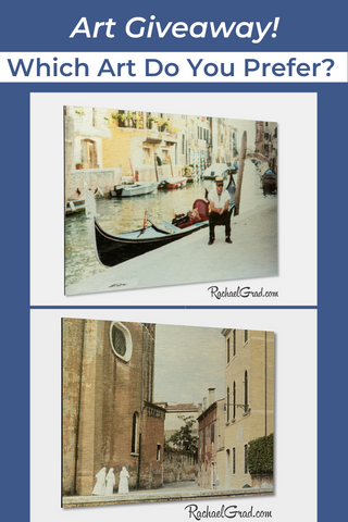 Art Giveaway by Artist Rachael Grad November 2019 3 nuns or gondolier resting Venice Italy