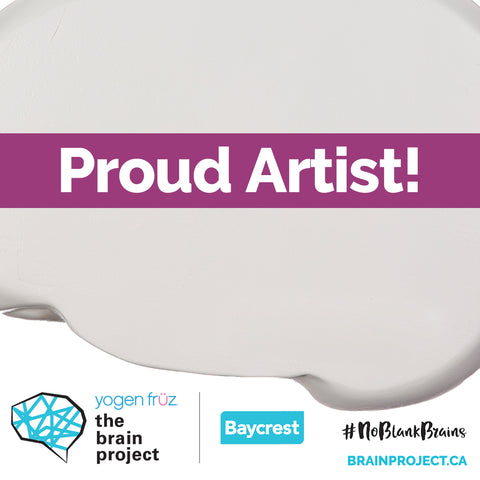 Artist Rachael Grad is one of the Proud Artists in the 2020 Baycrest Brain Project