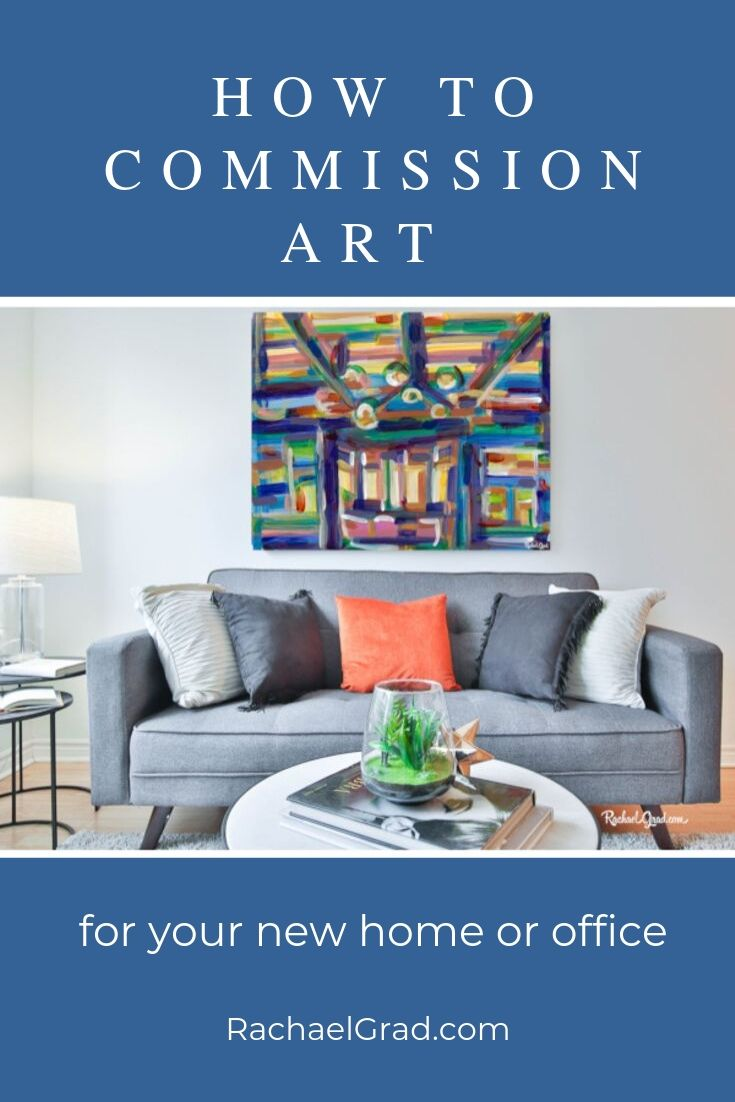 how to commission art for your new home or office by artist rachael grad