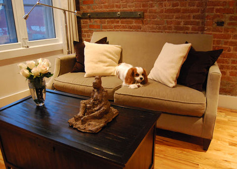 Art Collector Case Study: Michael's TriBeCa's Apartment, Mother and Child sculpture by Rachael Grad