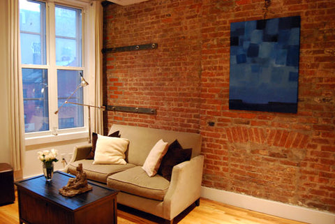Art Collector Case Study: Michael's TriBeCa Apartment, Living Room, Sculpture by Rachael Grad