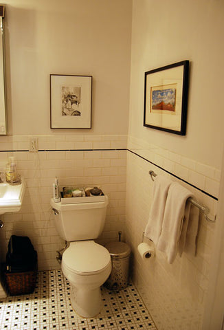 Art Collector Case Study: Michael's TriBeCa's Apartment, Bathroom, Print by Rachael Grad