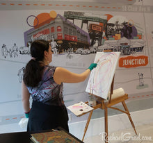 Load image into Gallery viewer, Tank Top Regular Fit on Toronto Artist Rachael Grad while live painting inToronto