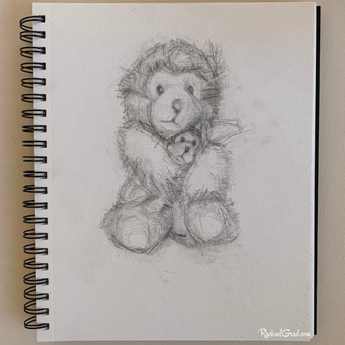Original Drawing of Mom and Baby Bears Huggings by Toronto Artist Rachael Grad
