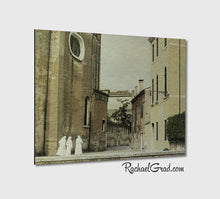 Load image into Gallery viewer, 3 Nuns Venice Italy Art Print on Metal by Artist Rachael Grad Fine Artwork