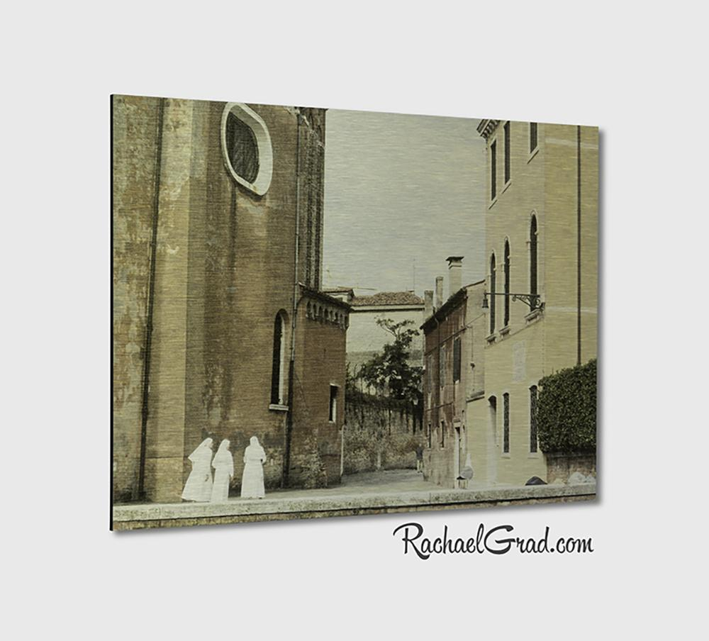 3 Nuns Venice Italy Art Print on Metal by Artist Rachael Grad Fine Artwork