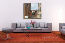 Load image into Gallery viewer, 3 Nuns in Italy Photography art print in living riom by artist Rachael Grad3 Nuns in Italy Photography art print in living room by artist Rachael Grad web wm.psd