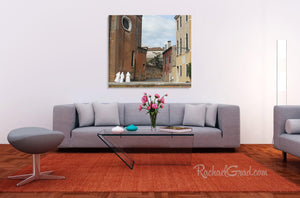 3 Nuns in Italy Photography art print in living riom by artist Rachael Grad3 Nuns in Italy Photography art print in living room by artist Rachael Grad web wm.psd