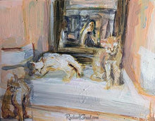 Load image into Gallery viewer, 3 cat in venice Italy by toronto artist rachael grad