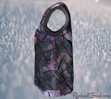Load image into Gallery viewer, Tank Tops for Women in Black Purple Art by Toronto Artist Rachael Grad side view