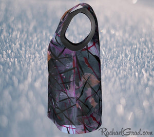 Tank Tops for Women in Black Purple Art by Toronto Artist Rachael Grad side view