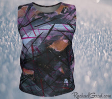Load image into Gallery viewer, Tank Top Regular Fit by Toronto Artist Rachael Grad in Black Purple front