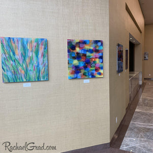 Colorful Art in the Hilton Toronto Markham Suites by Artist Rachael Grad outside conference centre
