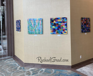 Colorful Art in the Hilton Toronto Markham Suites by Artist Rachael Grad November 2019