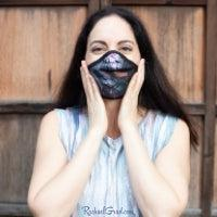 Toronto Artist Rachael Grad in black face mask