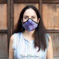 Toronto Artist Rachael Grad in purple face mask