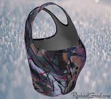 Load image into Gallery viewer, Black Athletic Crop for Women by Toronto Artist Rachael Grad side view