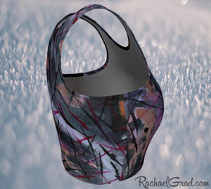 Black Athletic Crop for Women by Toronto Artist Rachael Grad side view