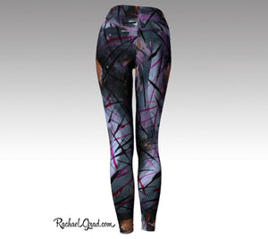 Holiday Gift for Mom: Mommy and Me Matching Leggings, Mom and Me Outfit Black Pants by Artist Rachael Grad