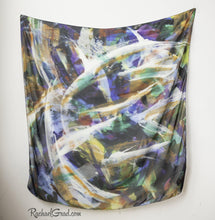 Load image into Gallery viewer, Black White Abstract Art Scarf by Artist Rachael Grad square scarves