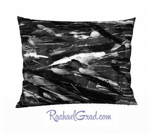 Black White Art Pillow, 26 x 20 Pillowcase Toronto Artist Rachael Grad front