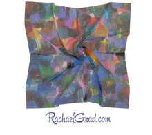 Load image into Gallery viewer, Blue Purple Artist Scarf by Toronto Artist Rachael Grad in silk