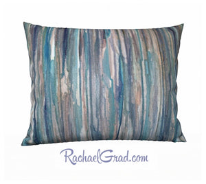Pillowcase - Blue Lines, Large-Pillows-Canadian Artist Rachael Grad