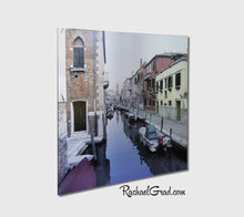 Load image into Gallery viewer, Canal Reds Venice Italy Art Print on Metal by Toronto Artist Rachael Grad