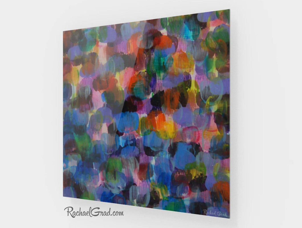 Colourful Art Prints Colored Office Decor Colorful Home Decor High Shine Artwork Colorful Square Art Blue Purple Artwork Colorful Artwork Multicolored Art Abstract Art Color by Artist Rachael Grad