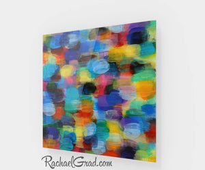 Colorful Abstract Art | Multicolor Artwork | Colourful Square Art Prints | High Shine Artwork for Home or Office Decor Colourful Art Prints Rachael Grad