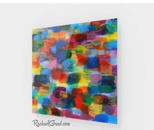 Load image into Gallery viewer, Colorful Abstract Art | Yellow Red Artwork | Colourful Square Art Prints | High Shine Artwork for Home or Office Decor Colourful Art Prints by Toronto Artist Rachael Grad full view