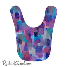 Load image into Gallery viewer, Baby Bibs - Purple Pink and Blue Abstract Art-Clothing-Canadian Artist Rachael Grad
