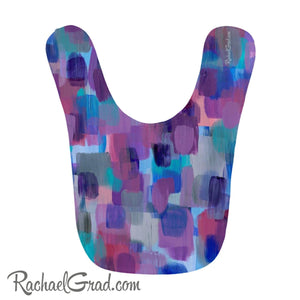 Baby Bibs - Purple Pink and Blue Abstract Art-Clothing-Canadian Artist Rachael Grad