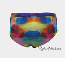 Load image into Gallery viewer, Women's Briefs - Colorful Abstract Art Underwear by Artist Rachael Grad