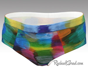 Women's Briefs - Colorful Abstract Art-Cheeky Briefs-Canadian Artist Rachael Grad