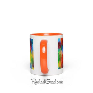Colourful Abstract Art Mugs-Canadian Artist Rachael Grad