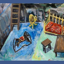 Load image into Gallery viewer, Dollhouse dream original painting by Canadian artist Rachael grad RachaelGrad.com