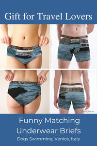 Gift for Travel Lovers: Matching Venice Dogs Underwear by Artist Rachael Grad