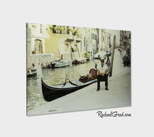 "Load image into Gallery viewer, Gondolier Resting Venice Italy Art Print 12"" x 18"" Rachael Grad Artist"