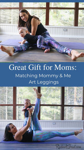 Great Gift for Moms/ Matching mommy & Me Art Leggings by Artist Rachael Grad